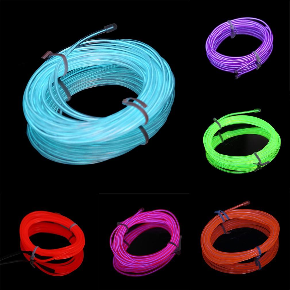 G 1M Flexible EL Wire Rope String Neon Glow Car Decor Light + 3V ...