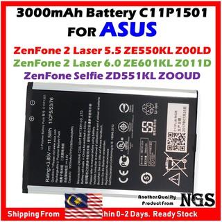 "P//N C11P1501 1ICP5//53//76 Battery for Asus ZenFone 2 Laser 6/"" ZD551KL ZE601KL US"