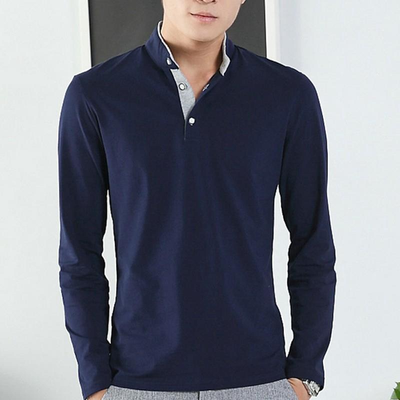 64cd6b8f New Fashion Men Casual Buttons Long Sleeve Luxury T- Shirt Tops | Shopee  Malaysia
