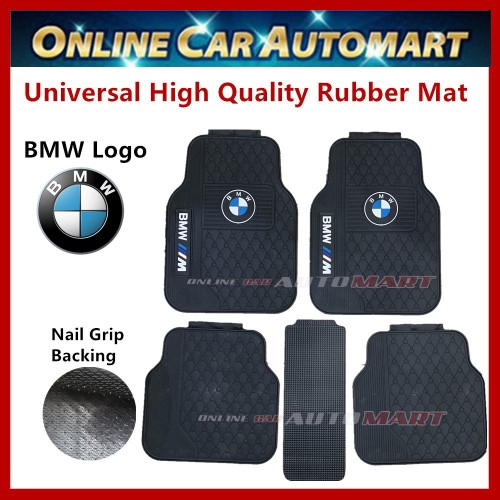 Universal High Quality Rubber Spike Nail Backing With BMW Logo Car Floor Mat