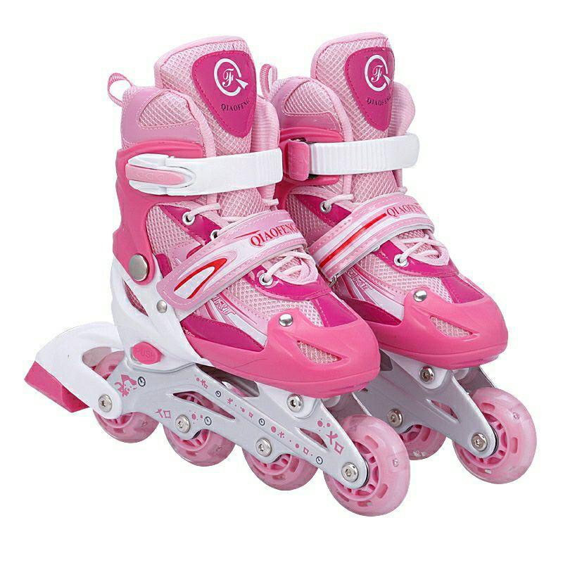Inline Roller Skate Roller Blade ADJUSTABLE Shoe Kids Roller Skate / Kasut Roda Budak Murah Adjustable <NH