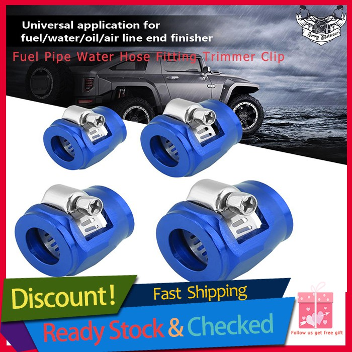 AN4 AN6 AN8 AN10 AN12 Hose End Finisher Aluminium Fuel Oil Water Pipe Clip  Clamp