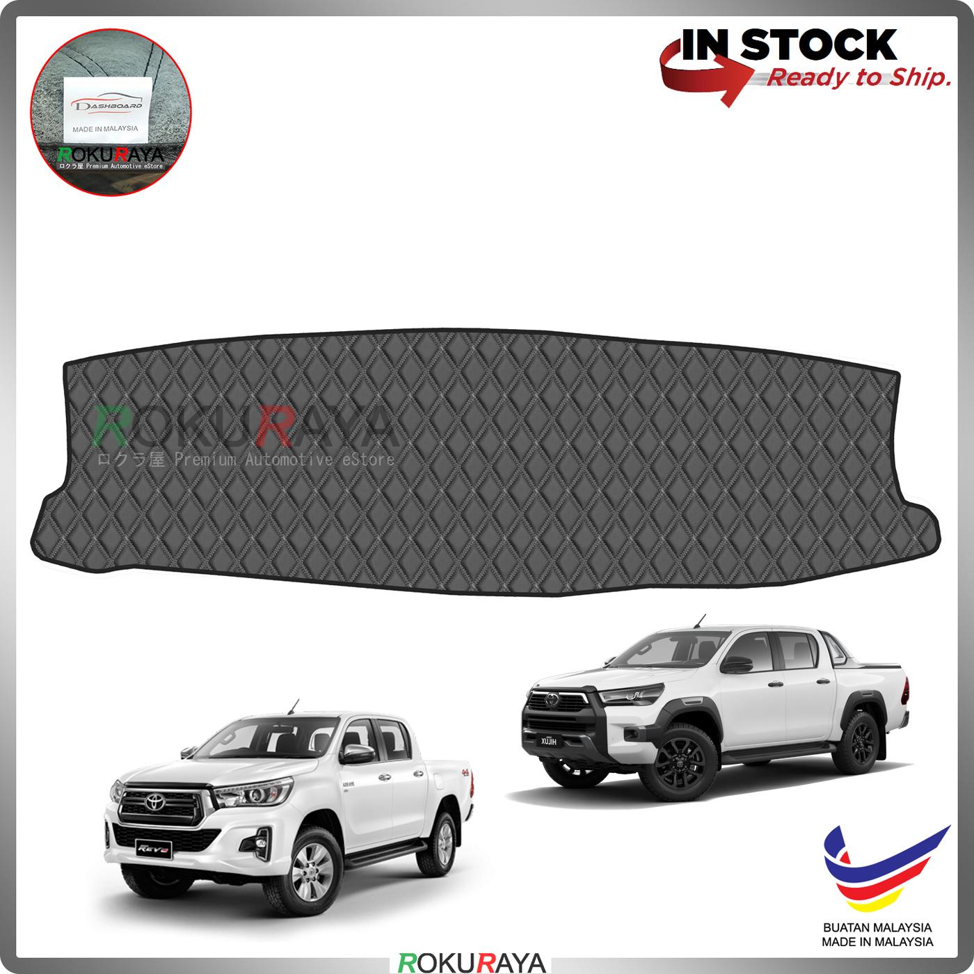 [BLACK LINE] Toyota Hilux Revo Rogue Rocco New RR Dashboard Cover Leather PU PVC Black Car Accessories Parts