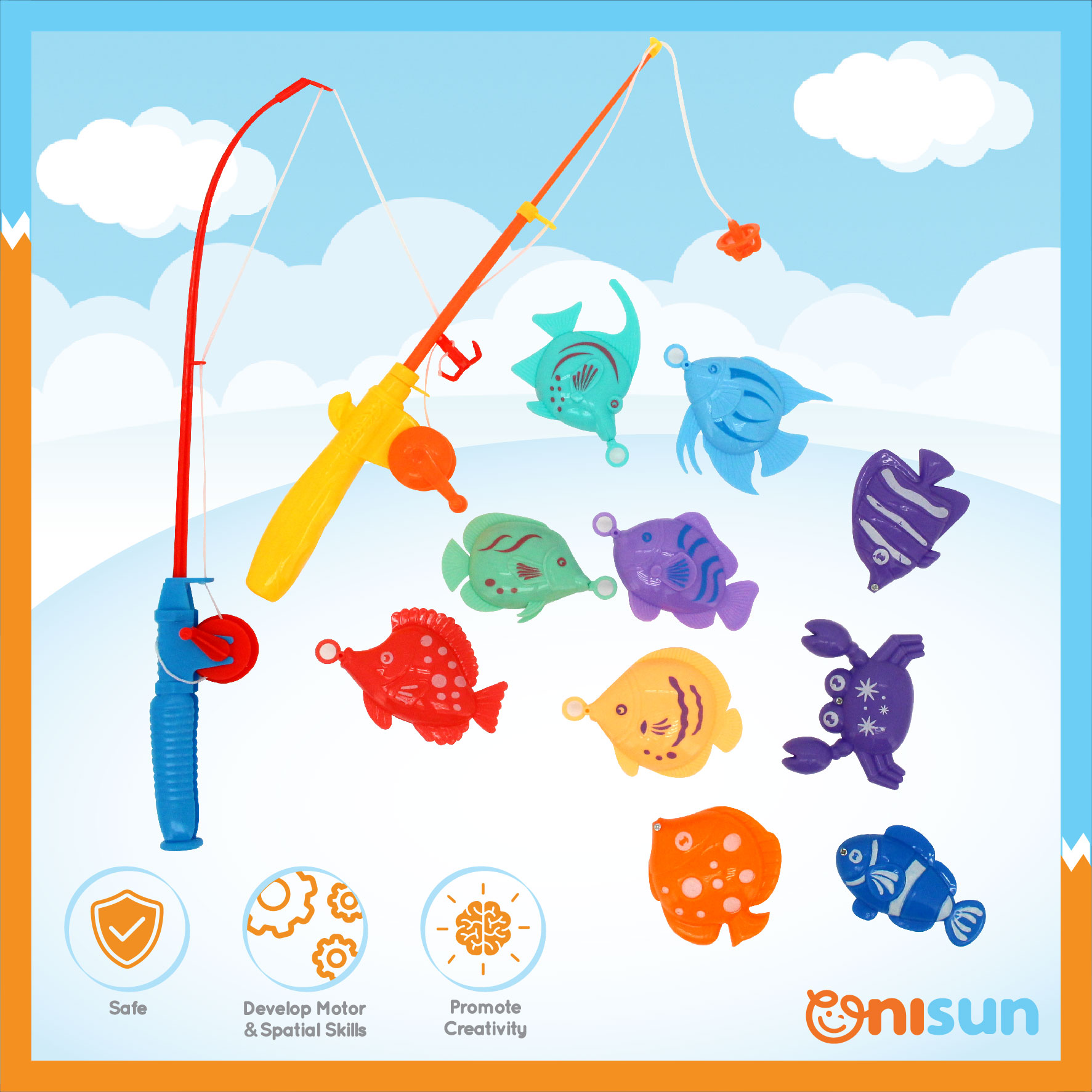 Fun Fishing Game Play Set With Two Fish Rods Shopee Malaysia