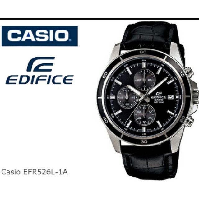 EDIFICE EFR-526L-1A (2YEARS WARRANTY) ORIGINAL MEN CHRONOGRAPH WATCH