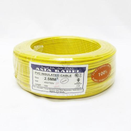Populära Asia Kabel Pure Copper 2.5mm PVC Insulated Non-Sheathed Wire [100M BF-41