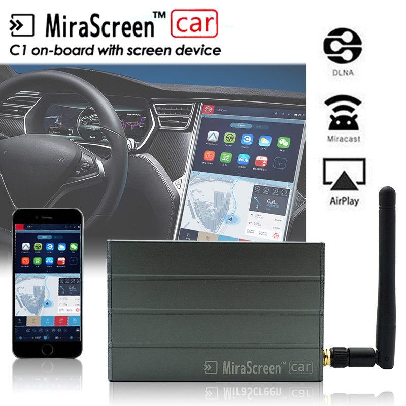 Car WiFi Display Mirror Link Box Adapter MiraScreen DLNA Airplay for iOS Android