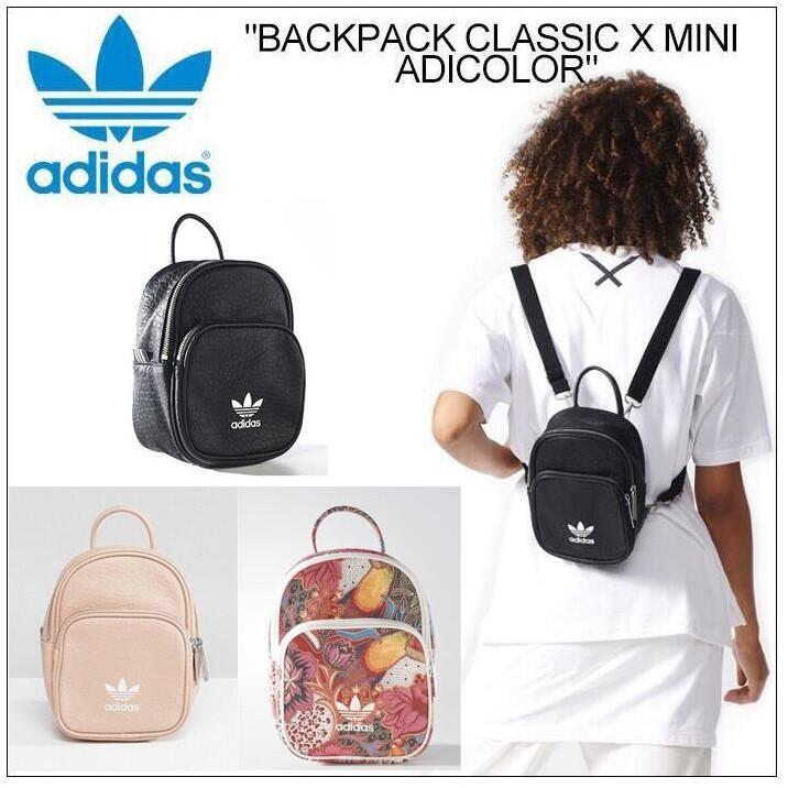 aca74956fa95 Mini double shoulder Original Adidas bag women Casual sports Small Backpack