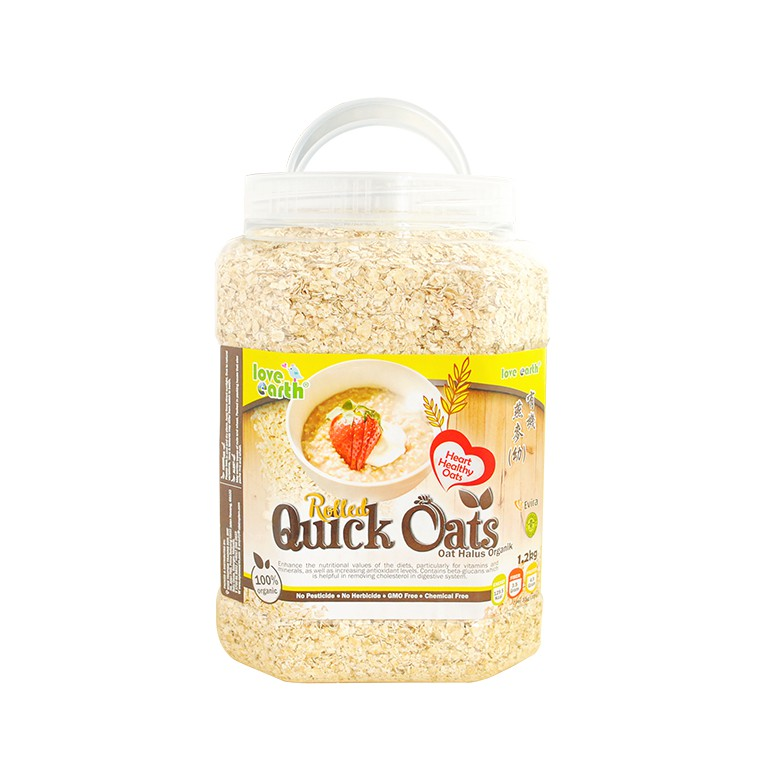 Organic Quick Rolled Oat 1.2kg