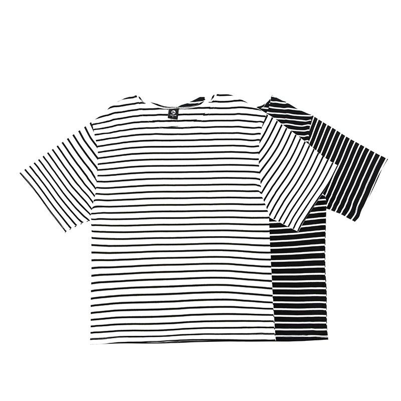 8d12aa4a6f3 t shirts oversized striped mens half sleeve hip hop streetwear ...