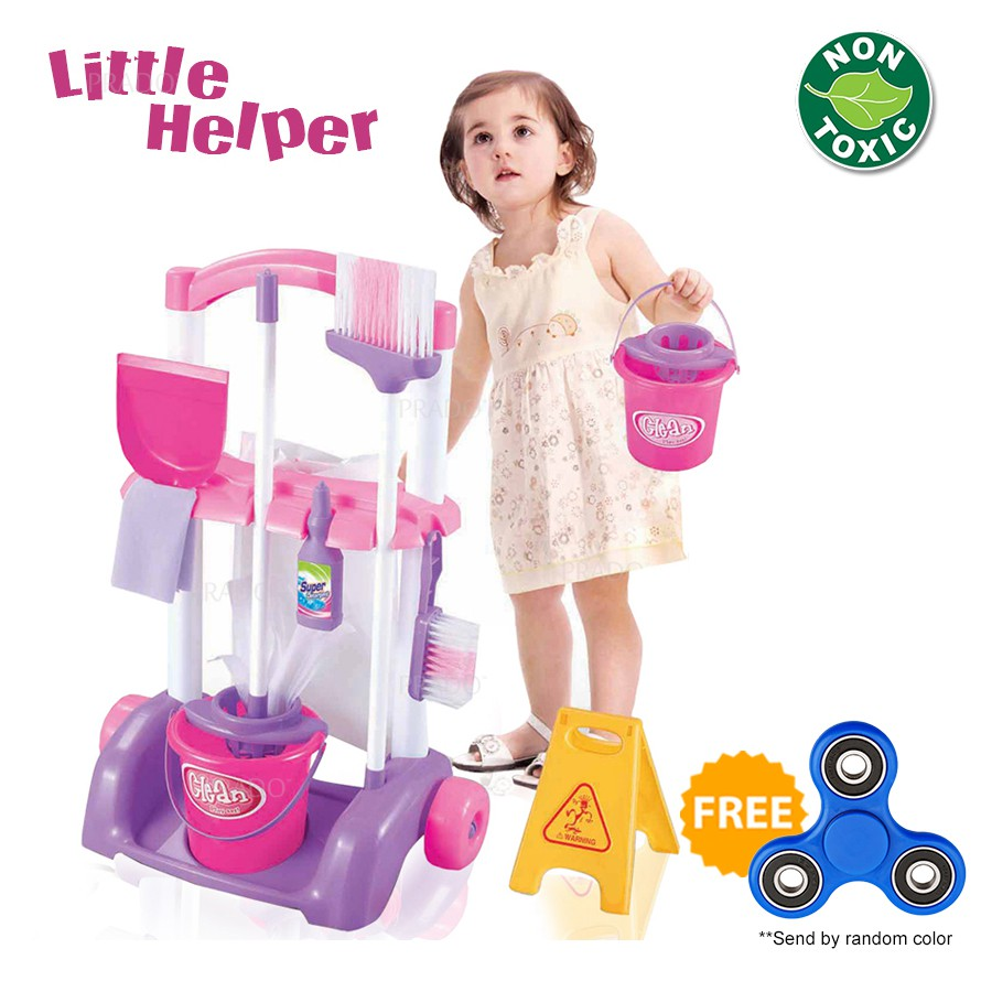 Domi Little Helper Toys Playset Cleaning Cart Pretend Play