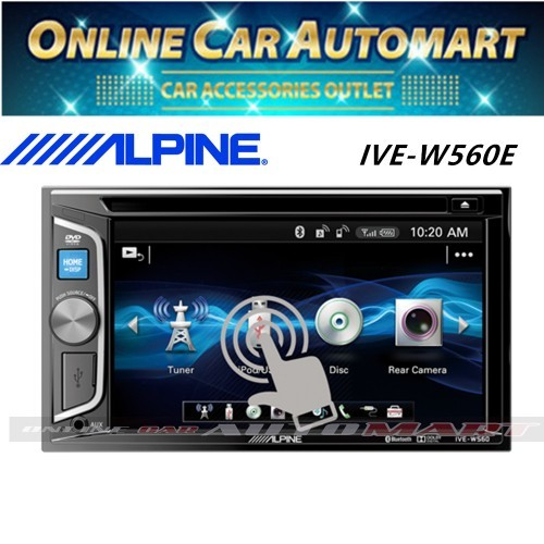 Alpine IVE-W560E 6 1 inch Double DIN Bluetooth DVD CD USB Car Stereo  Receiver