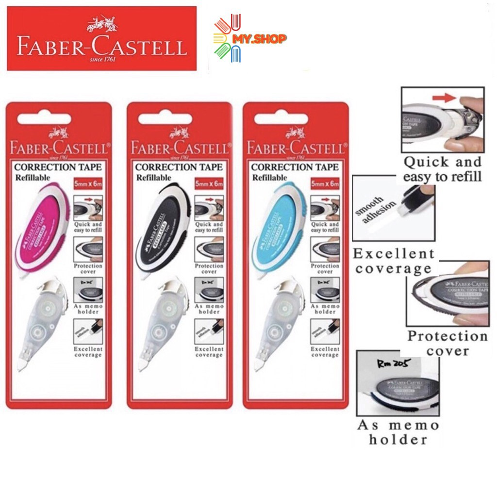 Faber-Castell 169102 Correction Tape with Refill (5mm x 6m)