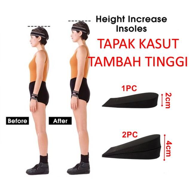 MALAYSIA] TAPAK KASUT TAMBAH TINGGI 2CM/ Height Increasing Shoes Insoles Casual or Formal