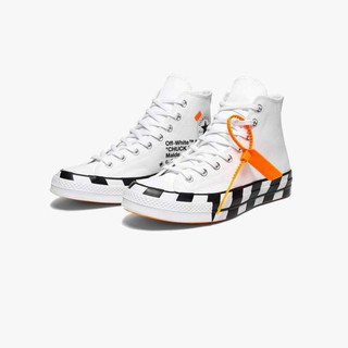 New CoMverse Chuck Taylor All Star 70s Hi Off White Virgil Abloh Checkered