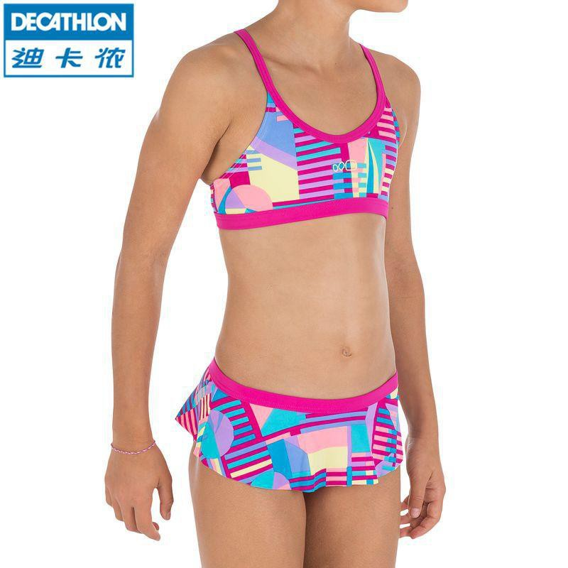 d2bae2f77e Decathlon swimsuit girls split printed NABAIJI Free Ship | Shopee Malaysia