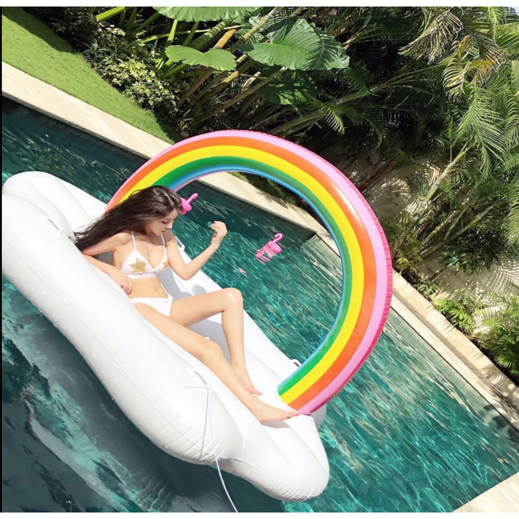 Inflatable Unicorn Swimming Ring Giant Pool Float Swim Ring Giant 120cm Adult | Shopee Malaysia