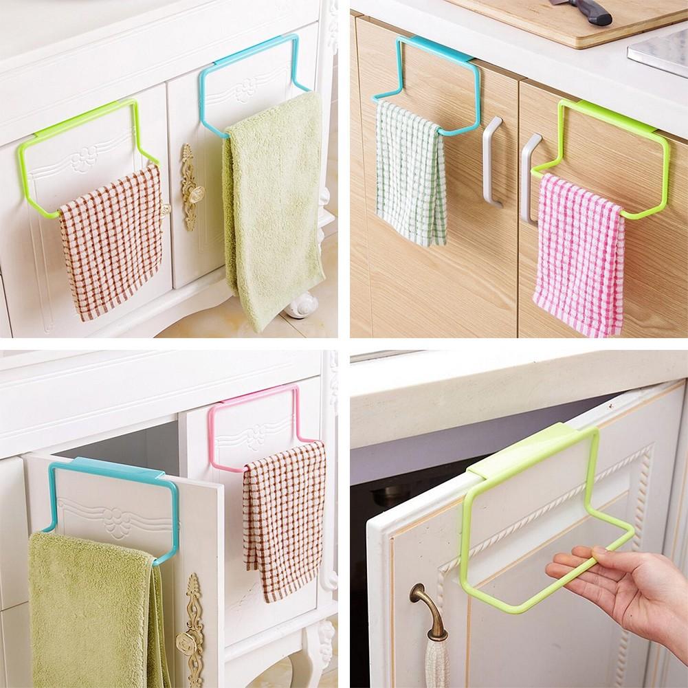 NEW Bathroom Kitchen Towel Rack Hanging Holder Organizer Cabinet Cupboard Hanger