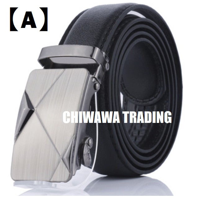 100% Top Cow Buckle Genuine Leather Luxury Men's Belt Pronged Pin Strap
