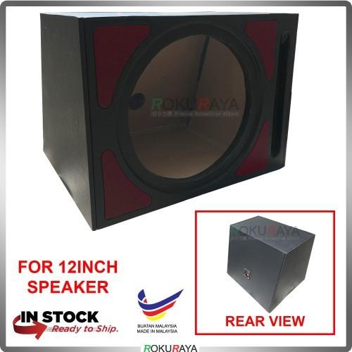 12'' 1Hole Single PVC Sub Woofer Speaker Hot Box Plywood (Red)
