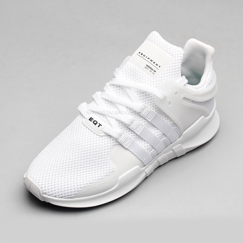 official photos 5f667 39d32 Maopan Adidas EQT Support ADV All White running sports shoes BA8322