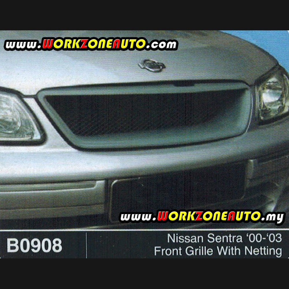 B0908 Nissan Sentra 00-03 Fiber Front Grille With Netting