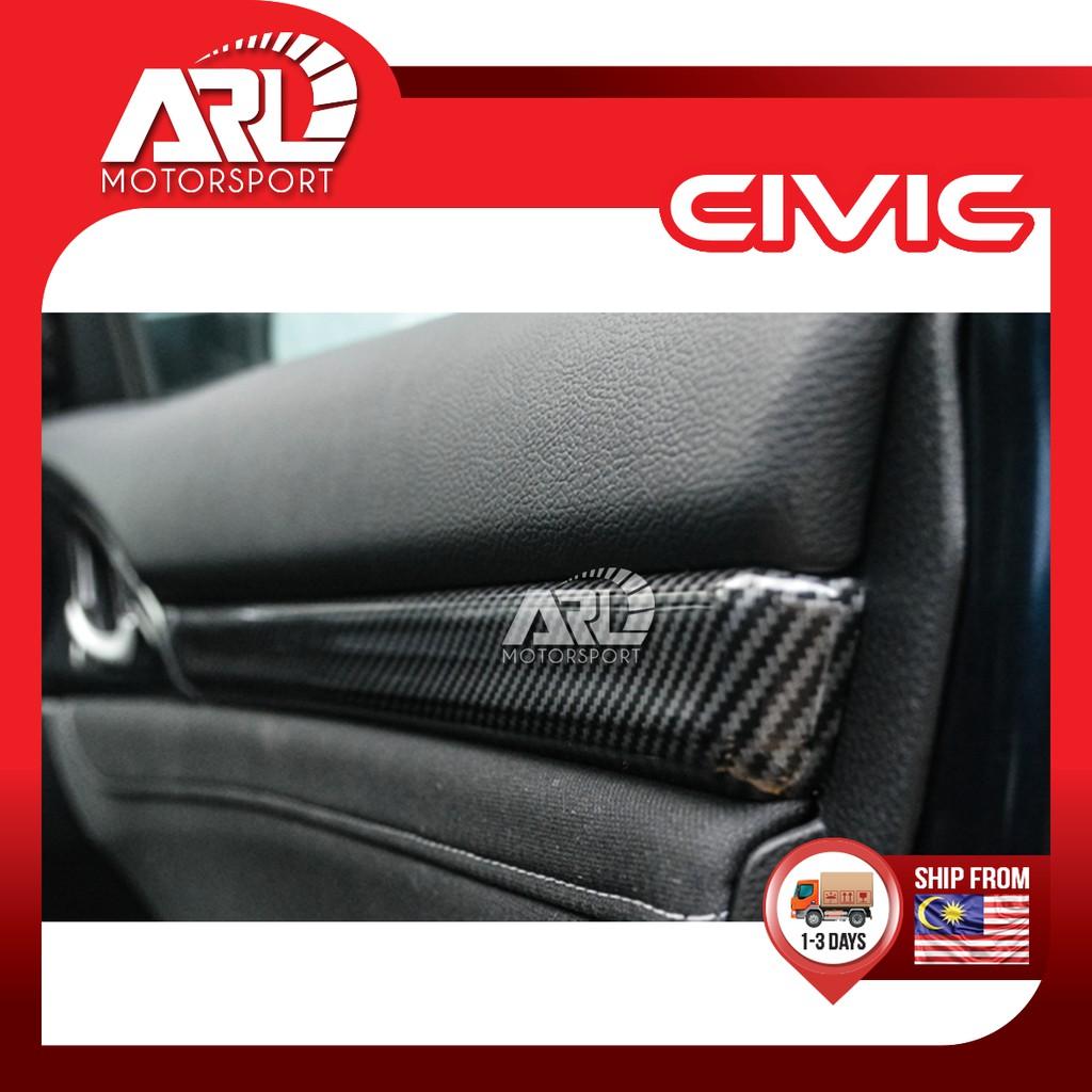 Honda Civic (2016-2020) Inner Door Panel Carbon Fiber Design Car Auto Acccessories ARL Motorsport