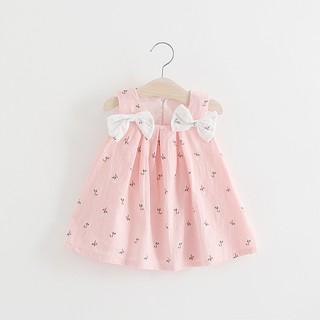 f64e409b48543 0-24M Summer Baby Girl Dress Cotton Print Floral Bow Girl Dresses ...
