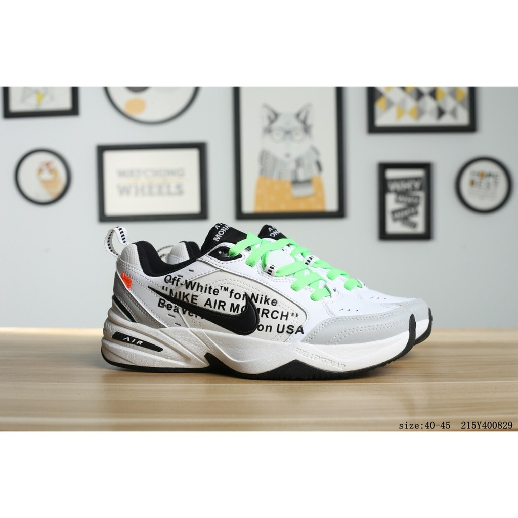 new concept 5f9bf 9d4b2 Off White x Nike Air Monarch the M2K Tekno Joint Retro Vintage Shoes    Shopee Malaysia