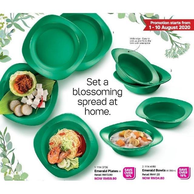 Tupperware Emerald Plate or Emerald Bowl 350mlO