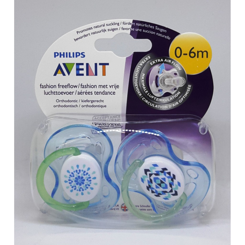 Avent Freeflow Soother 0 6m Twin Shopee Malaysia Philips Single White