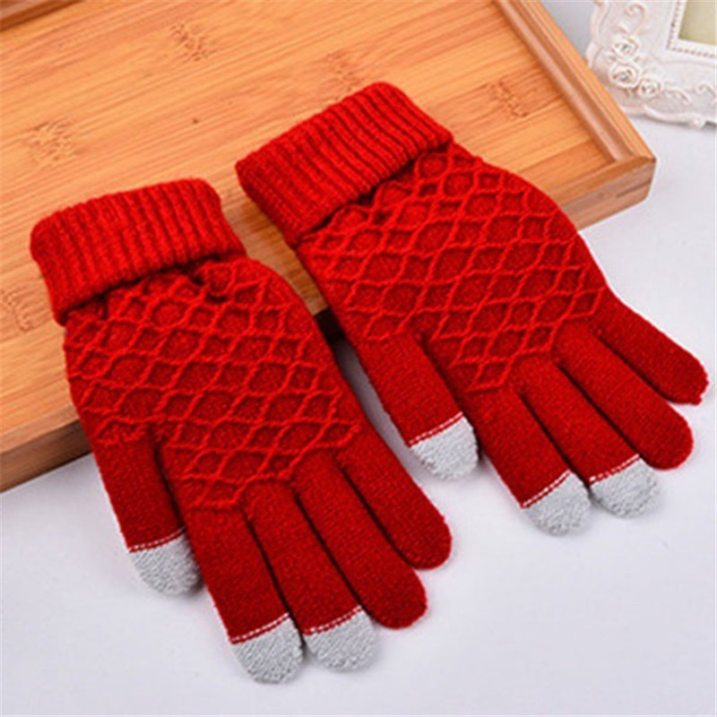Women's Accessories Women's Scarf Sets Expressive 1 Pair Soft Full Finger Snowflake Mittens Autumn Winter Gloves Cotton Warm Knitted Protective Gloves For Children Kids