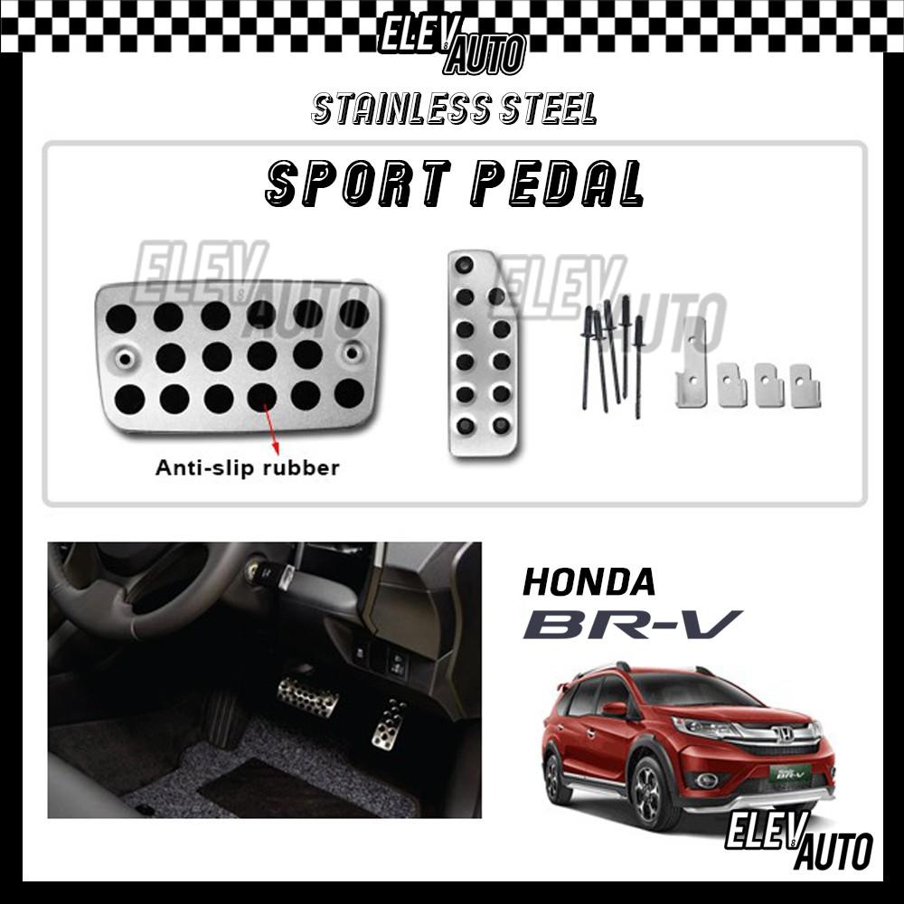 Honda BR-V BRV Stainless Steel Sport Pedal with Anti-slip Rubber