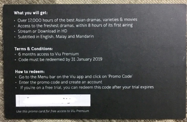Viu premium pass for 6 months offer!!! | Shopee Malaysia