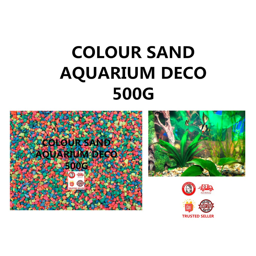 COLOUR SAND AQUARIUM DECORATION COLOURFUL 500G