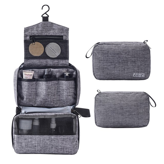 9033548d7d9a Makeup Bag Organizer, Hanging Portable Waterproof Cosmetics Bag Toiletry  Bag with Hook for Men and Woman