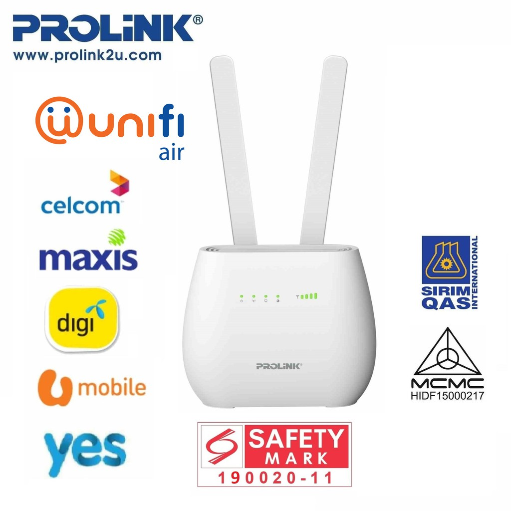 PROLiNK 4G Sim Card LTE Router with Voice Call / Network LAN Port PRN3006L