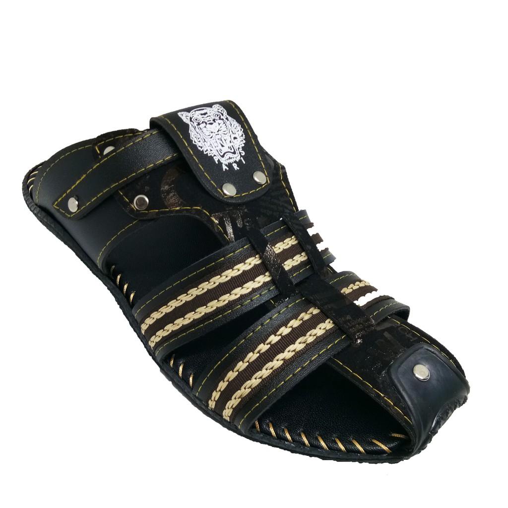 SHL Men Pu Leather Sandal Selipar Kasut Lelaki size 6-10【男士凉鞋】-1286