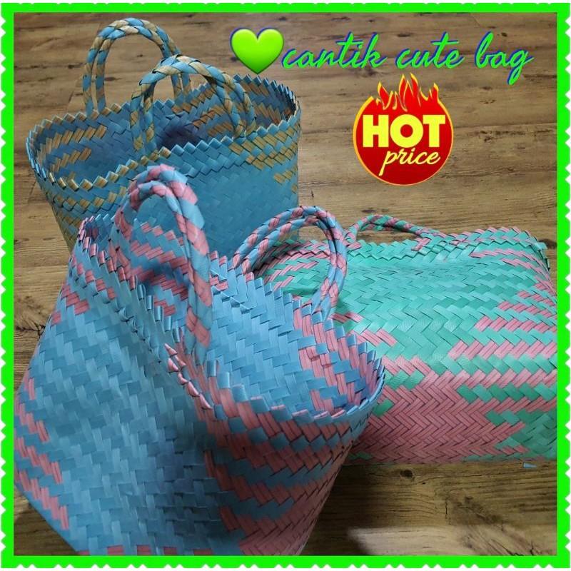 Must Buy**Bag Anyaman Cantik*Bag hamper *Penan bag *Picnic bag *Casual bag