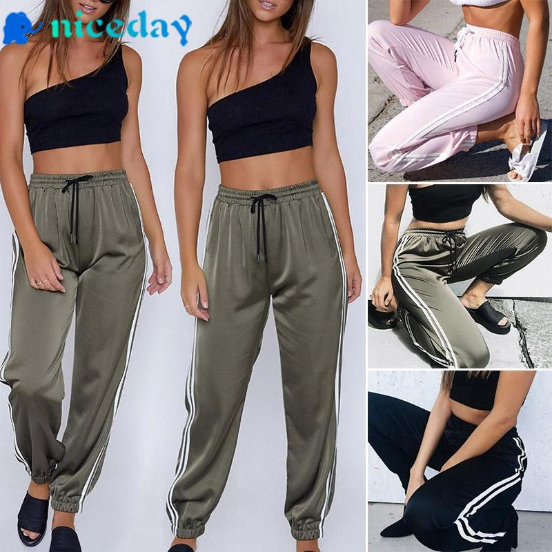 9139e4947 Fashion Women's Casual Elastic High Waist Harem Pants Sport Jogging Yoga  Pants | Shopee Malaysia
