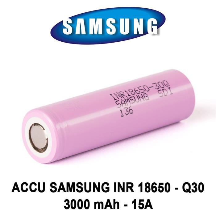 AUTHENTIC 100% Samsung 30q 18650 vape Battery 3.7v High Drain Rechargeable 3000mAh 20A 60w