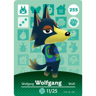 Wolfgang 255 Card Or Round Token Coin Animal Crossing New