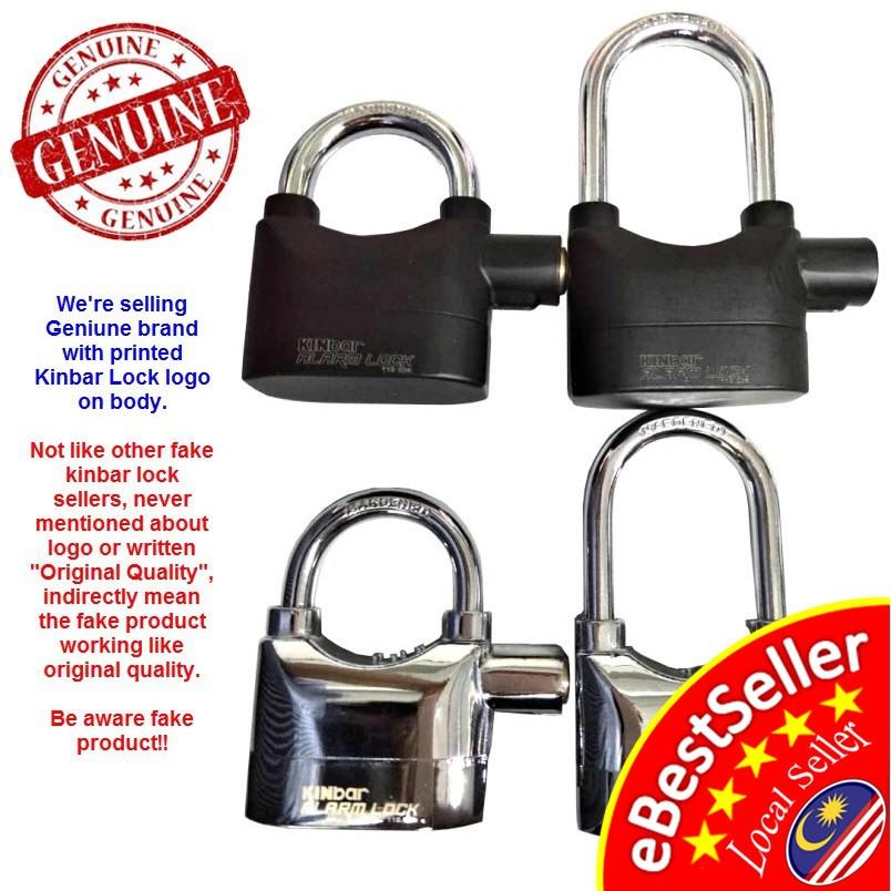 Kinbar SIREN ALARM PAD LOCK DOOR/Motor/Bike/Car Anti-Theft