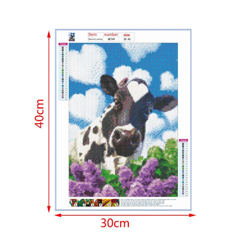 Dairy Cow 5D Full Drill Diamond Painting Embroidery Cross Stitchs Kit Crystal