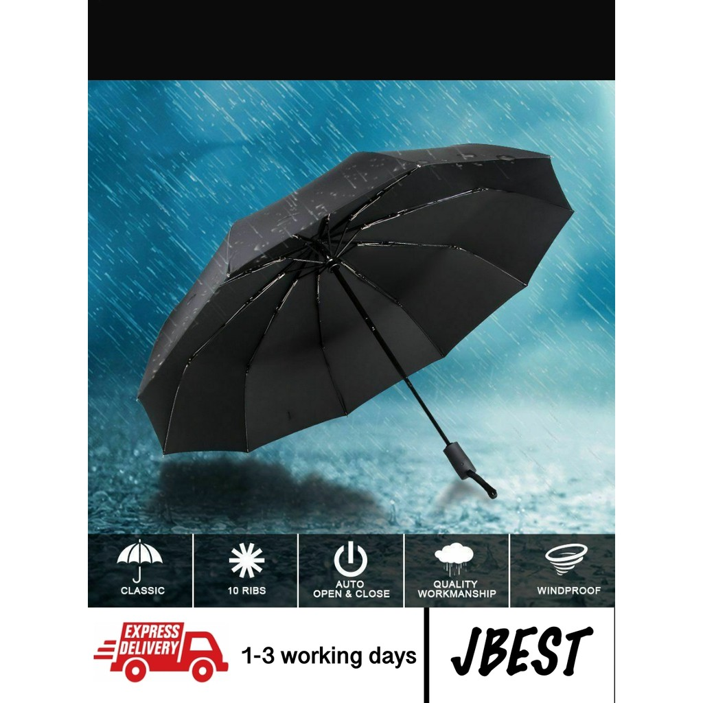 JBM Full automatic open and close foldable umbrella