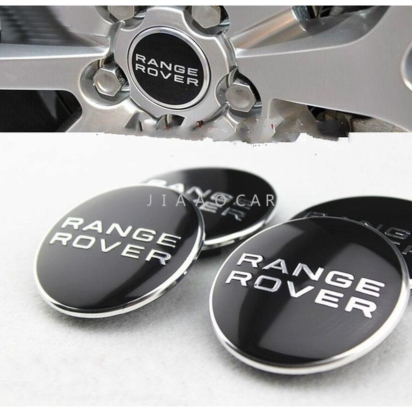4 X 60mm Black Chrome Range Rover Alloy Wheel Centre Hub Caps