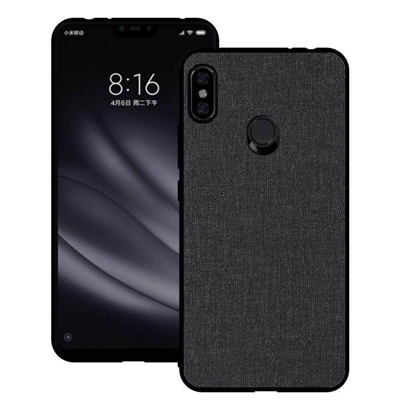 info for bdac8 44c91 Xiaomi Redmi Note 6 Pro Case Cover Redmi Note 5 Pro Silicone Edge Fabric  Case