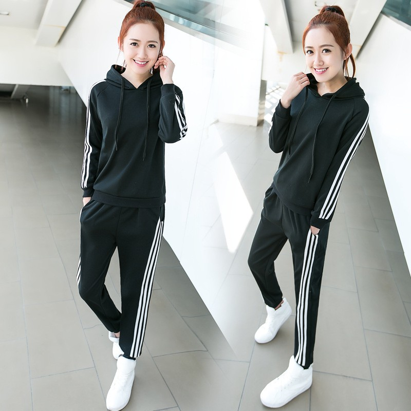 5bec0a6a938 Winter Fashion Women Long Sleeved Hoodies Plus Top Long Pant Sport Wear Set