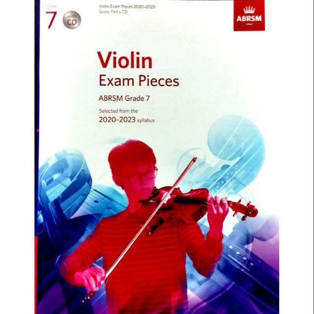 ABRSM Violin Exam Pieces 2020-2023 Grade 7 (With CD) / Violin Book / Violin Exam Book