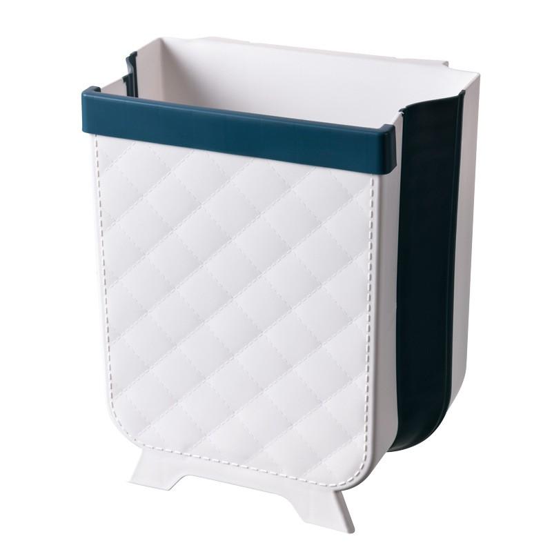 Collapsible Trash Can Trash Bin Foldable Dustbin Garbage Tong Kitchen Sampah Waste Storage Hanging Mounted Kitchen